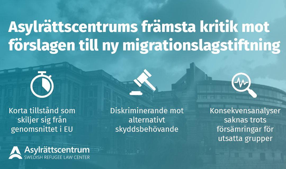 Riksdagen röstar om Sveriges nya migrationslagstiftning